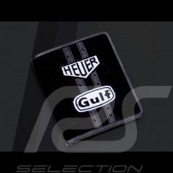 Geldbeutel Gulf racing Canvas / Leder schwartz