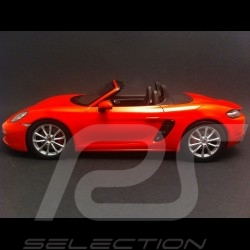Porsche 718 Boxster type 982 2016 orange 1/18 Spark WAP0212060H