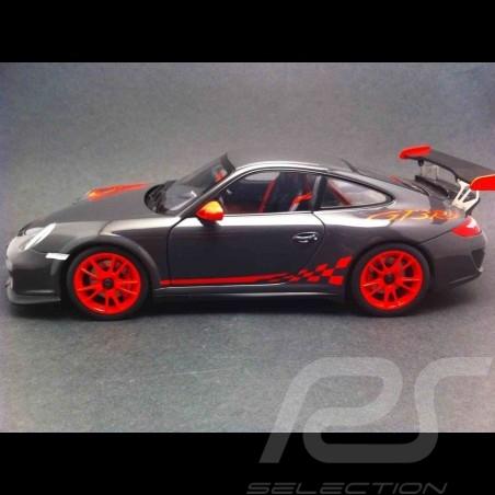 Porsche 997 GT3 RS 3.8 grau / rot 1/18 Autoart 78141