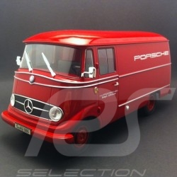 Mercedes-Benz L319 case truck Porsche 1960 red 1/18 Norev 183416