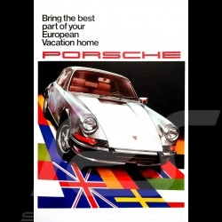 Porsche Poster 911 The best part of your European vacation