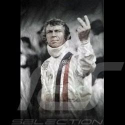 Men's T-shirt  Steve McQueen The man Le Mans white