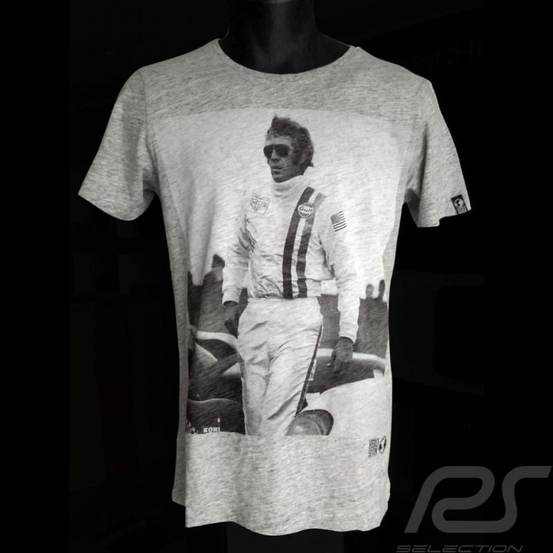 T-Shirt Steve McQueen Delaney Le Mans grau - Herren