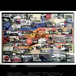 Porsche Poster 1952 2012 Anniversaire 60 ans de Clubs Porsche