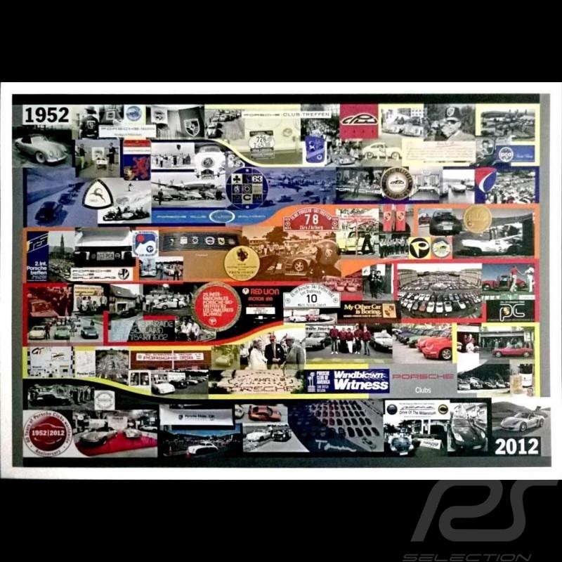 Porsche Poster 1952 2012 60 years of Porsche Clubs Anniversary