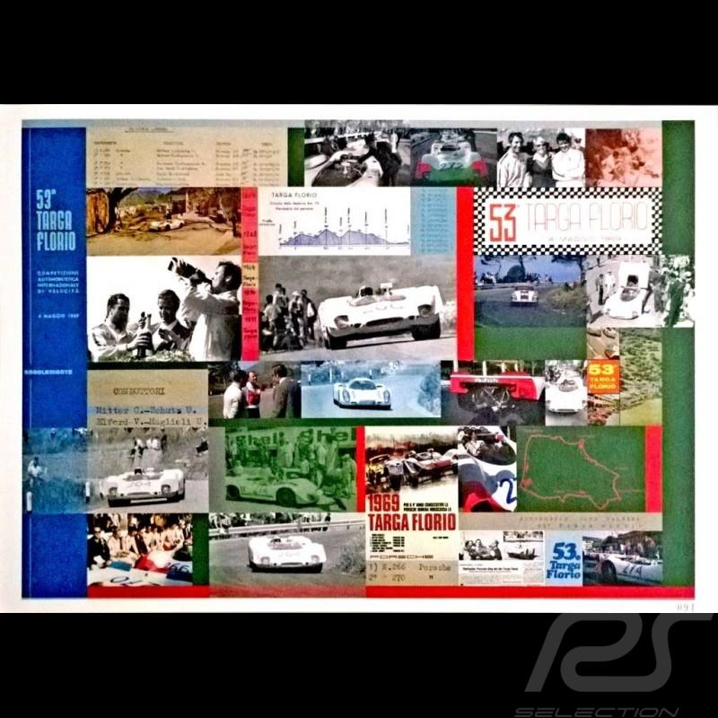 Porsche Poster 53a Targa Florio 1969 Porsche 908 winner