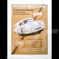 Porsche Poster Internationale Alpenfahrt 1953 original poster by Erich Strenger