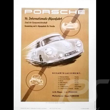 Porsche Poster Internationale Alpenfahrt 1953 affiche originale de Erich Strenger