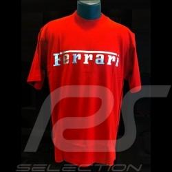 T-shirt Ferrari logo argent rouge homme