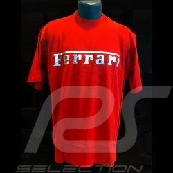 T-shirt Ferrari silver logo red Men
