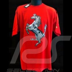 T-shirt Ferrari silber Cavallino rot Herren