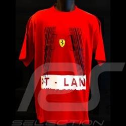 T-shirt Ferrari Pit lane rouge homme