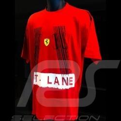 T-shirt Ferrari Pit lane rot Herren
