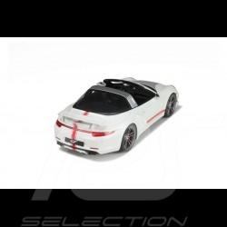 VORBESTELLUNG Porsche 991 Targa Techart 2016 weiß / grau / rot 1/18 GT Spirit GT108