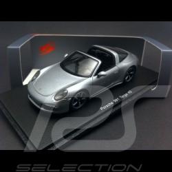 Porsche 991 Targa 4S 2015 silver grey 1/43 Spark S4934