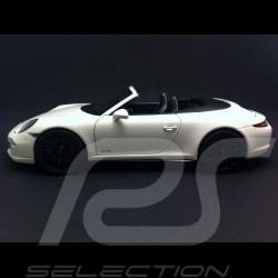 Porsche 991 Carrera GTS Cabriolet blanche white weiß 1/18 Schuco 450039500