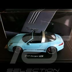 Porsche 991 Targa 4S gulf blue 1/18 Spark WAX02100010