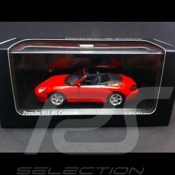Porsche 996 Carrera 4S Cabriolet 2003 red 1/43 Minichamps MAP02036314