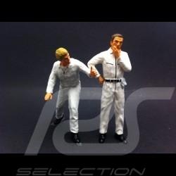 Set figurines diorama 2 mécaniciens en blanc 1/18 AS180135
