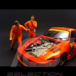Set figurines diorama 2 mechanics in orange 1/18 AS180137
