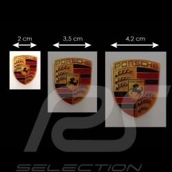 Autocollant 3D Porsche 2,5 x 2 cm Crest 3D sticker Wappen Aufkleber