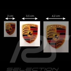 Autocollant 3D Porsche  4.5 x 3.5 cm Crest 3D sticker Wappen Aufkleber 3D