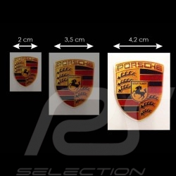 Autocollant 3D Porsche 5.5 x 4.2 cm Crest 3D sticker Wappen Aufkleber
