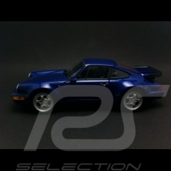 Porsche 964 Turbo 1990 bleu métallisé 1/24 Welly MAP02493716