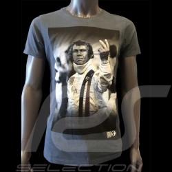 T-Shirt Steve McQueen The man Le Mans marineblau - Herren