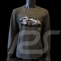 T-shirt Porsche 904 Carrera 1964 gris chiné manches longues - homme