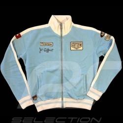 Hoodie jacket Jo Siffert n° 12 Gulf blue - men