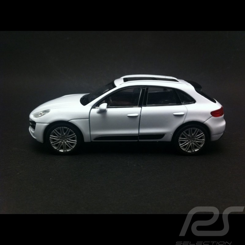 Porsche Macan Turbo Welly blanc jouet à friction pull back toy Spielzeug Reibung
