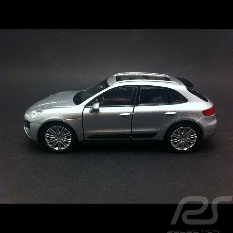 Porsche Macan Turbo  Welly  gris jouet à friction pull back toy Spielzeug Reibung