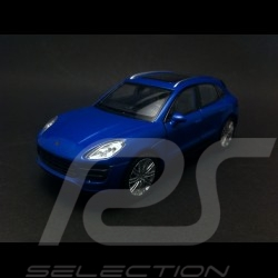 Porsche Macan Turbo blue pull back toy Welly