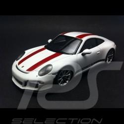 Porsche 991 R 2016 blanche / rouges 1/43 Spark WAP0201460J