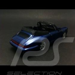 Porsche 964 Carrera 2 Cabriolet 1990 bleu 1/43 Minichamps 430067331