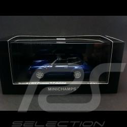 Porsche 964 Carrera 2 Cabriolet 1990 blue 1/43 Minichamps 430067331