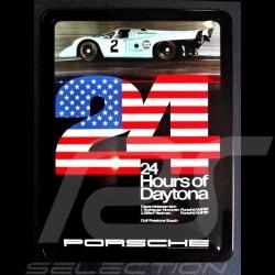 Plaque métal Porsche 917 GULF 24 h Daytona 1970 Metal plate Blechschild MAP11601216