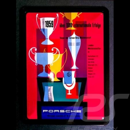 Plaque métal Porsche 1000 victoires internationales 1959 20 x 15 cm MAP01572016