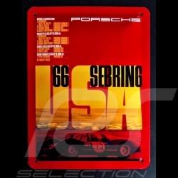 Plaque métal Porsche 1966 Sebring USA Metal plate Blechschild MAP11601116
