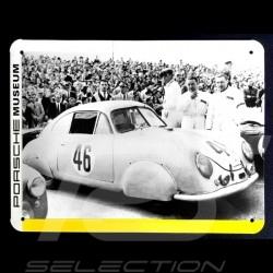 Plaque métal Porsche 356 SL n° 46 24 h du Mans 1953 20 x 15 cm MAP07018014
