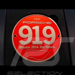"Badge de grille Porsche 919 Mission 2014 ""Our Return"""