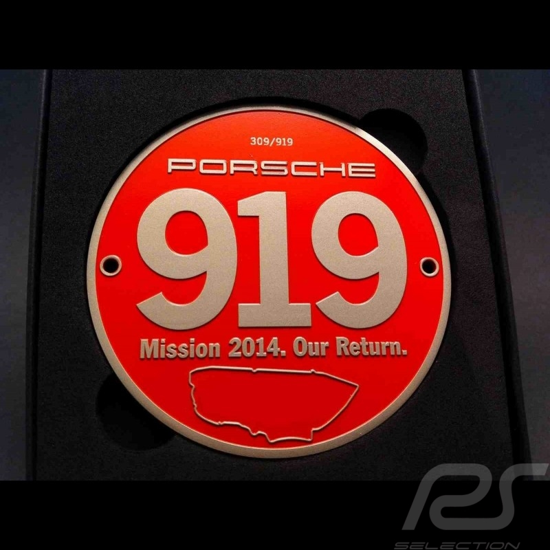 "Grille badge Porsche 919 Mission 2014 ""Our Return"" MAP04512414"