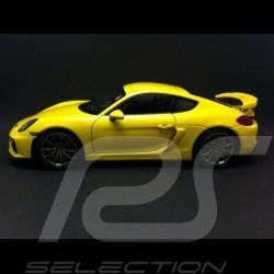 Porsche Cayman GT4 2015 jaune racing racing yellow racinggelb 1/18 Schuco 450040000