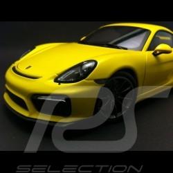 Porsche Cayman GT4 2015 racing yellow 1/18 Schuco 450040000
