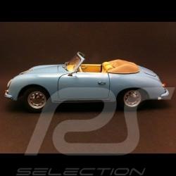 Porsche 356 A Cabriolet bleu 1/18 Schuco 450031100