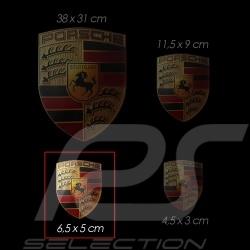 Set de 4 autocollants Porsche 6.5 x 5 cm Crest sticker Wappen-Aufkleber