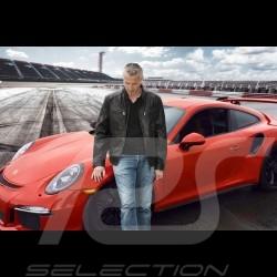 Veste Porsche Design cuir noir pour homme WAP974