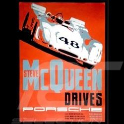 Porsche Poster Steve McQueen Sebring 1970 image originale de Nicolas Hunziker