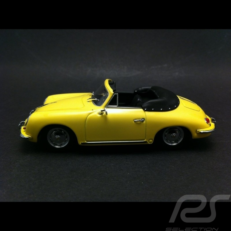 Porsche 356 B Cabriolet 1960 gelb 1/43 Minichamps 400064334